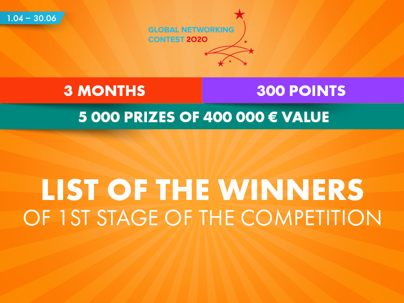 1st stage of Global Networking Contest – list of the winners